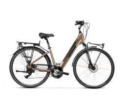 City Bike Elettrica Lombardo Trastevere 28 7V Marrone Nero