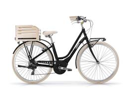 City Bike Elettrica MBM Apostrophe 28 Donna Nero