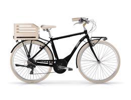 City Bike Elettrica MBM Apostrophe 28 Uomo Nera