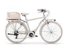 City Bike Elettrica MBM Apostrophe 28 Uomo Sabbia