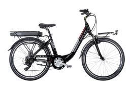City Bike Elettrica Montana Ayda 26 TY300 6V Nero
