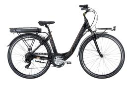 City Bike Elettrica Montana Ayda 28 TY300 6V Nero