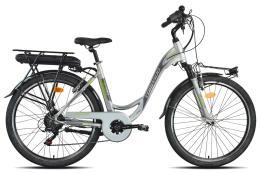 City Bike Elettrica Torpado Afrodite 26 Bafang 250W Grigio