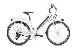 City Bike Elettrica Torpado Venus 26 6V Bianco