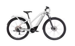 City Bike Elettrica Trekking Bianchi E Omnia T Type Lady Deore 10V Bianca
