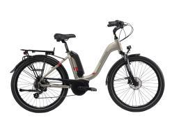 City Bike Elettrica Trekking Lombardo Ravenna 26 7V Grigia
