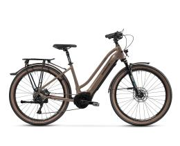 City Bike Elettrica Trekking Lombardo Roma 9.5 27.5 Donna Marrone