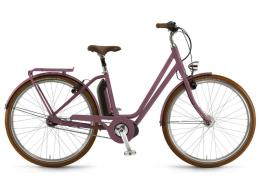 City Bike Elettrica Winora Saya N7f 400 26 Melanzana
