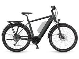 City Bike Elettrica Winora Sinus 9 Uomo 27.5 Grigio