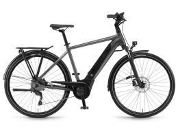 City Bike Elettrica Winora Sinus i9 28 Uomo 9V Titanio