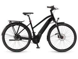City Bike Elettrica Winora Sinus iR8 28 Donna 8V Onice Nero