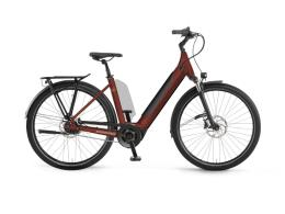 City Bike Elettrica Winora Sinus N5f Unisex 27.5 Marroncino