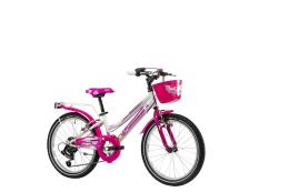 City Bike Lombardo Cremona 20 6V Bianco Fucsia Lucido
