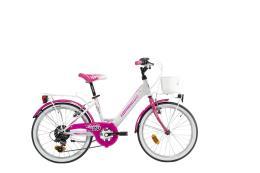 City Bike Lombardo Mariposa 20 6V TY21 Bianco Fucsia