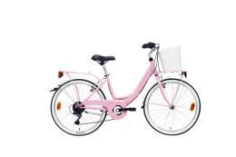 City Bike Lombardo Rimini 24 6V Rosa Rosa Scuro Lucido