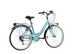 City Bike Lombardo Rimini 26 6V Tiffany Tiffany Scuro Lucido