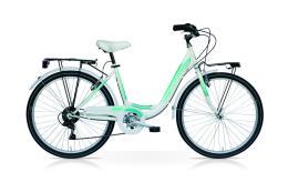 City Bike SpeedCross Fashion 26 6V Bianco Tiffany