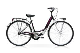 City Bike SpeedCross Fashion 28 6V Nero Fucsia