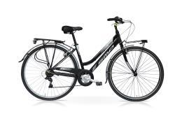 City Bike SpeedCross My Way Donna 28 21V Nero Bianco