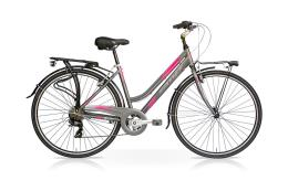 City Bike SpeedCross My Way Donna 28 21V Titanio Fucsia