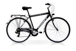 City Bike SpeedCross Town Uomo 28 7V Nero Silver