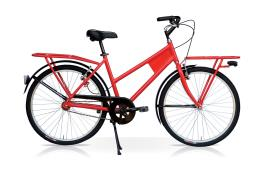 City Bike SpeedCross Trasporto 26 1V Rosso Antiforo Kenda