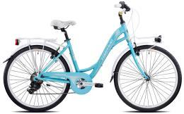 City Bike Torpado Freedom 26 Donna 7V Blu Chiaro Crema