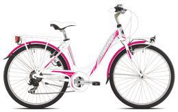 City Bike Torpado Partner 28 Donna 21V Bianco Fucsia