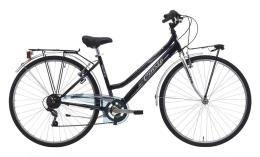 City Bike Trekking Cinzia Country 28 Donna 6V Nero