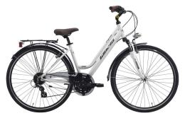 City Bike Trekking Cinzia Crystal 26 Donna 24V Bianco