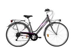 City Bike Trekking Lombardo Mirafiori 250 Donna 28 6V Antracite Fucsia