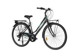 City Bike Trekking Lombardo Mirafiori 270 Donna 28 21V Antracite Verde