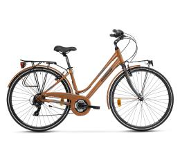 City Bike Trekking Lombardo Mirafiori 270 Donna 28 21V Copper Grigio