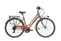 City Bike Trekking Lombardo Mirafiori 270 Donna 28 21V Rame Grigio