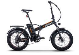 Fat Bike Elettrica Brinke Troll 20 48V 250W Nero Arancio