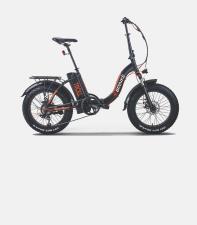 Fat Bike Elettrica Brinke Troll Comfort 20 36V 250W Nero Verde