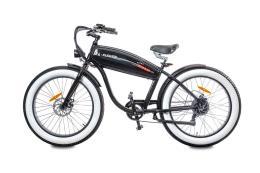 Fat Bike Elettrica Electri Extra Bold 26 7V Brushless Nero Lucido
