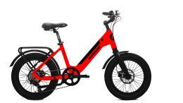 Fat Bike Elettrica Lombardo Aurelia 7V Rosso Lucido