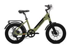 Fat Bike ELettrica Lombardo Aurelia 7V Verde Militare Opaco