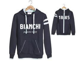 Felpa Bianchi Hoodie 1885 Blu Navy