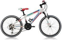 Mountain Bike Bambino Legnano Twister 20 12V TY21 Bianco Azzurro Verde - RossoMountain Bike Bambino Legnano Twister 20 12V TY21 Bianco Azzurro