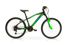 MTB SpeedCross Mud 24 18V Nero Verde Lucido