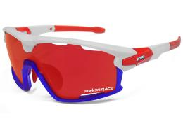 Occhiali PowerRace 15TH USA Bianco Blu