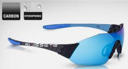 Occhiali Swisseye C-Shield Vivid montatura Carbonio Nero Blu - Lenti smoke BW Revo