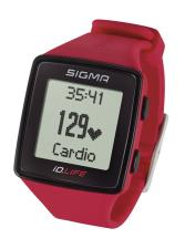 Orologio Cardiofrequenzimetro Sigma ID Life Rosso
