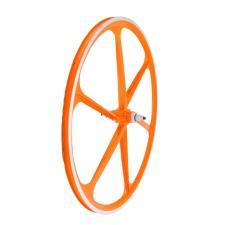 Ruota Anteriore WAG Aerowheels 28 6 razze Arancione Fluo