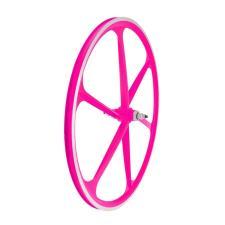 Ruota Anteriore WAGBIKE Scatto fisso 28 6 razze in lega - Rosa Neon
