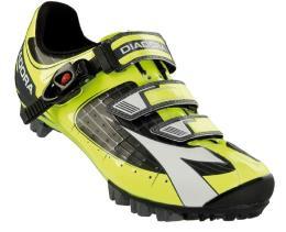 scarpa Mtb Diadora X-Tornado Nero Giallo Fluo dd Bianco