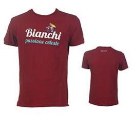 T-shirt Bianchi Passione Celeste Vintage Bordeaux